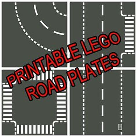 printable paper roads lego 8 5 x11 printable road plate standard dark gray pdf