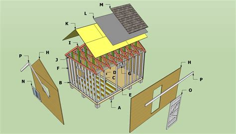 storage shed plans howtospecialist   build step