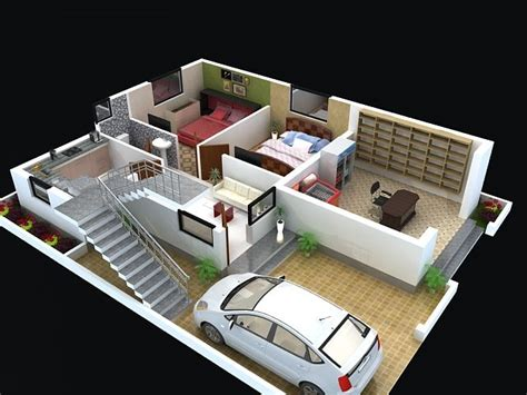 duplex home design plans 3d floor plan for modern duplex 3 floor house click on this