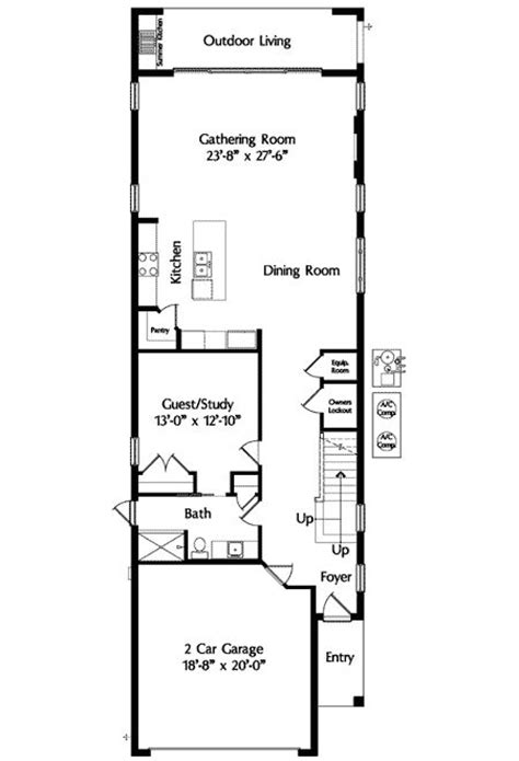 Narrow Home Plans by Mediterranean Narrow House 2 3 Not So Big House