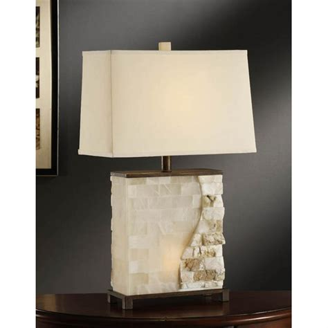 lighting rectangular granite dining table crestview collection 174 vista stacked table l 233564 lighting at sportsman s guide