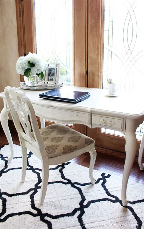 diy chalk paint with behr provincial desk made with cottage white paint
