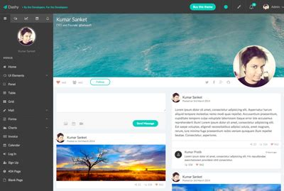 bootstrap themes free profile dashy angular theme strapui