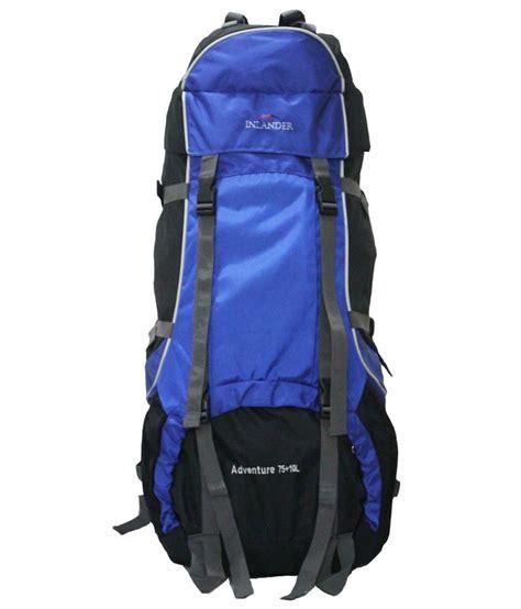 Inlander Blue inlander dec polyester 75 ltrs blue rucksack buy