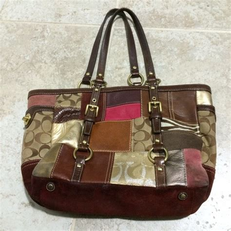 Patchwork Coach Bag - 94 coach handbags coach 10437 patchwork burgundy