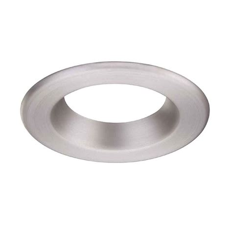 Ceiling Light Trim Rings Envirolite 4 In Decorative Brushed Nickel Trim Ring For Led Recessed Light With Magnetic Trim