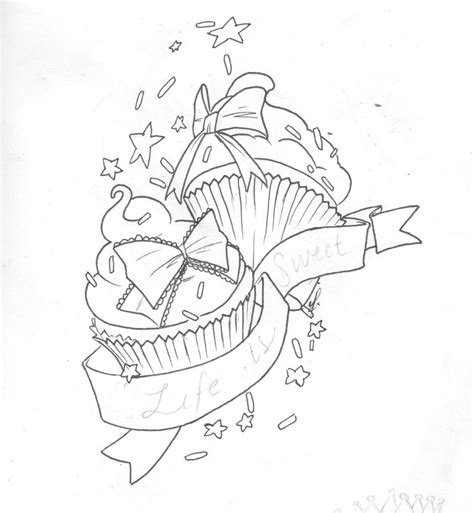 cupcake tattoo design by elfrog on deviantart