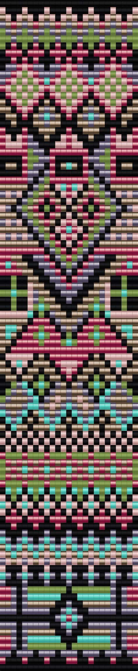 free seed bead loom patterns geometric bracelet one