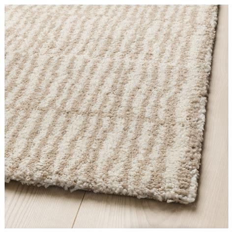 high pile rug lindelse rug high pile colour beige 170x240 cm ikea