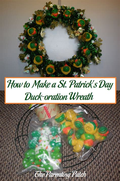 wreath rubber st how to make a st s day duck oration wreath