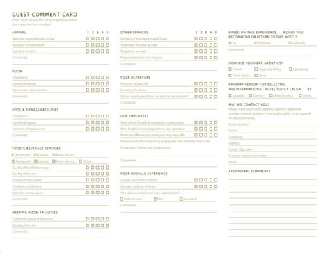 guest comment card template 26 images of survey cards template leseriail
