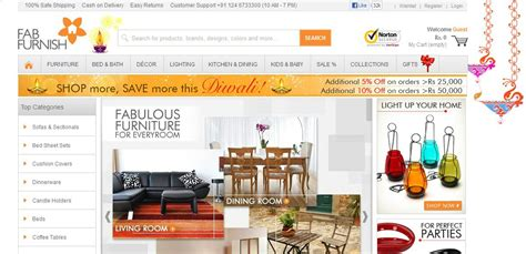 Home Decor Websites India by Home Decor Shopping In India Fabfurnish To Buy