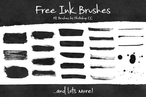 brushes for photoshop free ink brushes