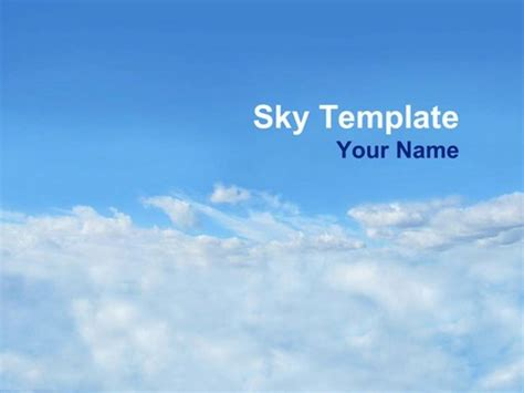 cloud template for powerpoint sky powerpoint template