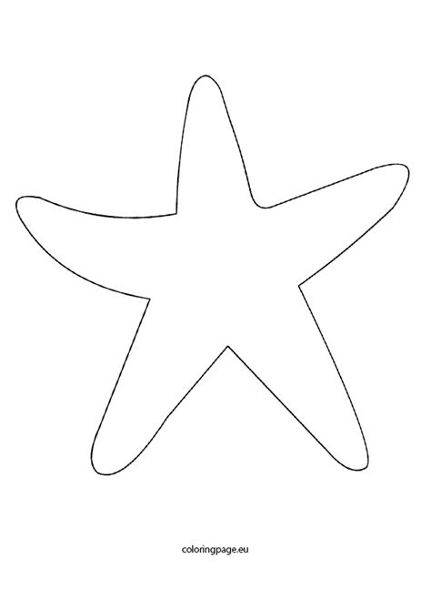 starfish template starfish outline images search