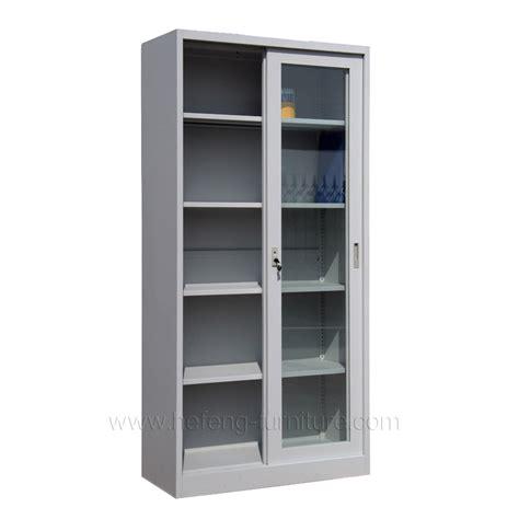Lemari Kaca Dua Pintu lemari arsip besi pintu geser kaca hefeng furniture