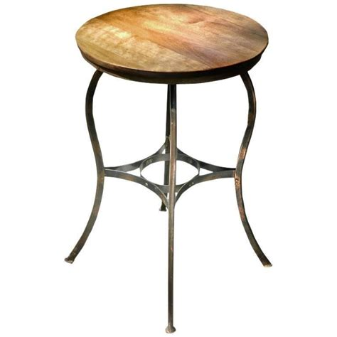 Copper Table L by Small End Table Original Japanned Copper Finish For Sale
