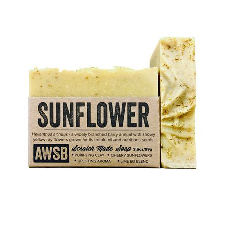 Handmade Organic Soap - sunflower handmade organic soap