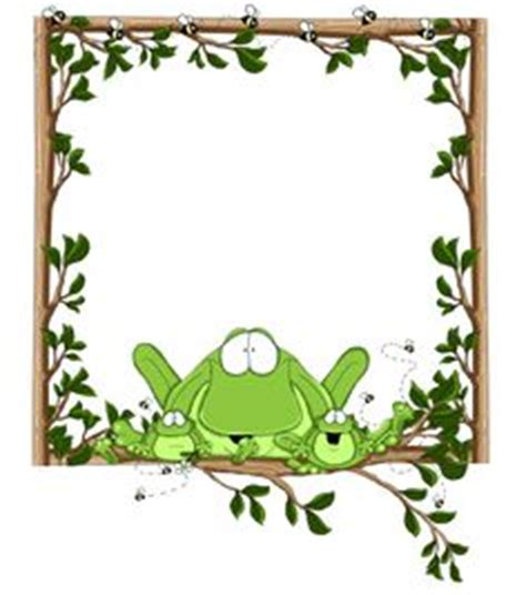 frog border writing paper frogframe1 png frogs paper design and clip