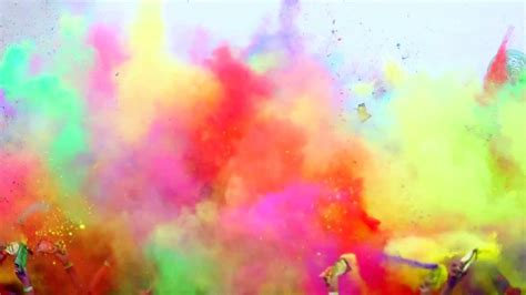 what color is this image the color run la serena 2014