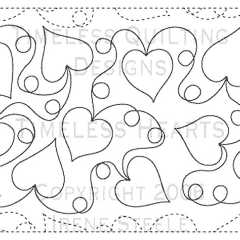 Free Continuous Line Quilting Patterns by Timeless Hearts Paper 12 Quot Quilts Complete Longarm