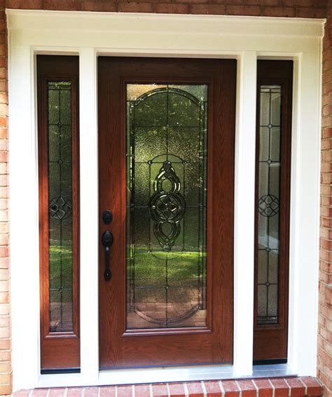 Glass Sidelights For Doors Custom Provia Front Entry Door With Sidelights And Light Designer Glass Installed By