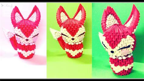 3d Origami Fox - 3d origami fox