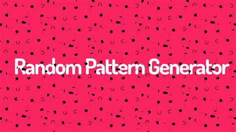 random pattern generator laser random background pattern generator youtube