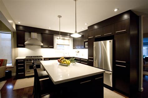 dark brown kitchen modern kitchen toronto  hot