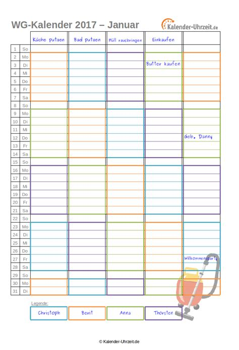 Kalender 2016 Monatsweise Kalender 2017 Zum Ausdrucken Kostenlos