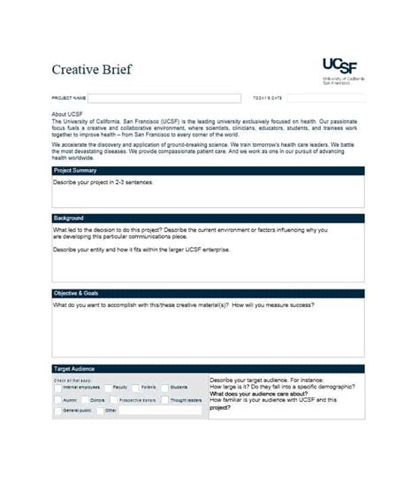 project brief template word 40 creative brief templates exles ᐅ template lab