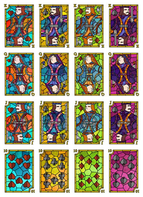 Glasses Com Gift Card - quot stained glass quot playing cards ks playing card plethora playingcardforum com a