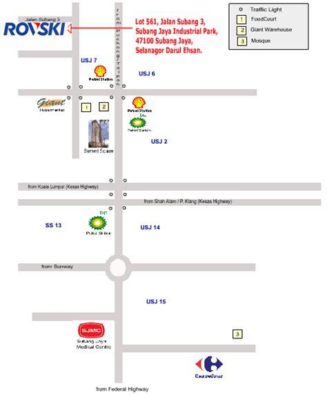 map usj subang jaya subang jaya indistrial park location map selangor