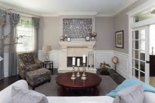 wainscoting living room transitional style living room with white wainscoting traditional living room chicago by