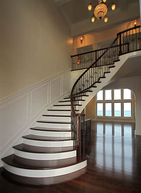Elegant Staircases | elegant curved stairs traditional staircase