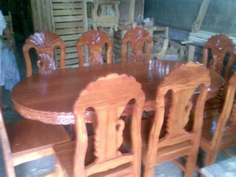 wood furniture peacock  seater dining set  sale