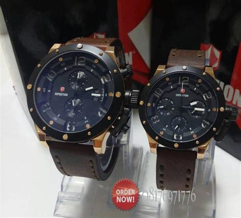Jam Tangan Alexandre Christie 8440 Cowok Gold Brown jam expedition e6381 brown rosegold original
