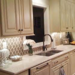 Kitchen Backsplash Wallpaper paint or wallpaper backsplashes