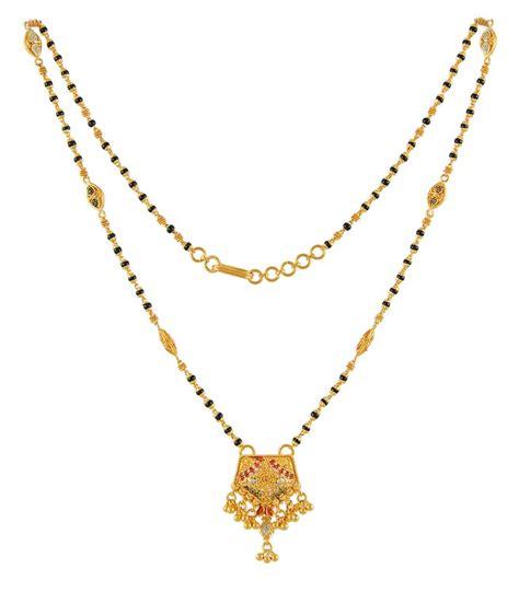 Lasebo 809 Black List Gold multi tone mangalsutra chms4467 22 karat gold