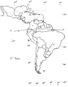 fill in the blank map of central and south america