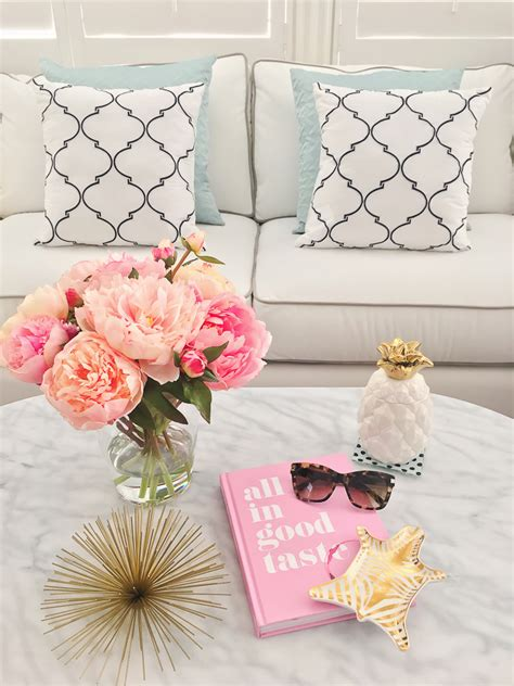 kate spade home decor stylish home decor white marble kitchen pink chair