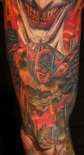 batman comic tattoo sleeve comic tattoos tattoo designs