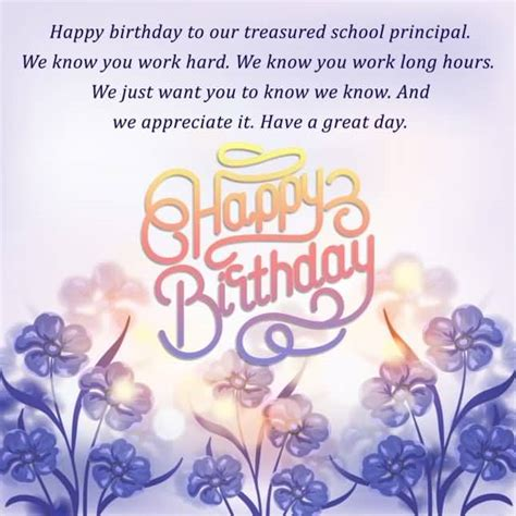 School Birthday Quotes 100 Beautiful Birthday Cards And Wishes For Principal