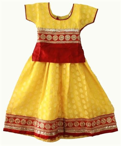 Dress Anak Yellow 54 best pattu pavadai images on