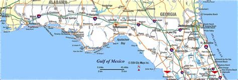 northern florida beaches map highway map of northern florida aaccessmaps