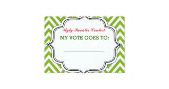 ugly sweater party contest voting ballot card zazzle