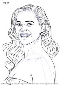 learn   draw reese witherspoon celebrities step  step drawing tutorials