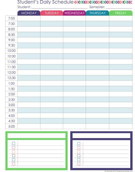 homeschool planner printable homeschool schedule template choice image template
