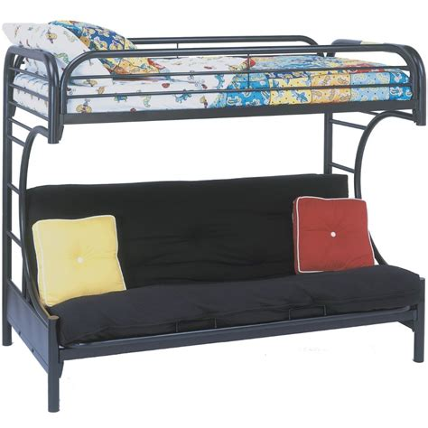 bunk bed with futon underneath in bunk beds