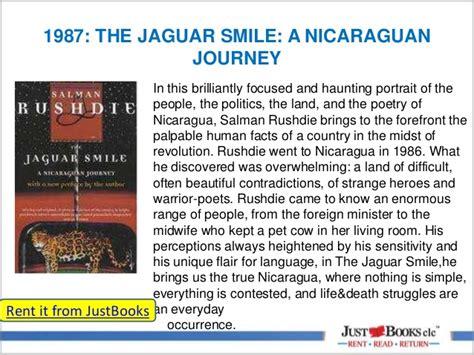 the jaguar smile nicaraguan jusubooks clc author collection salman rushdie